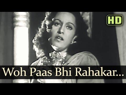 Woh Paas Bhi Rehkar Paas - Afsana Songs - Ashok Kumar - Veena - Lata Mangeshkar