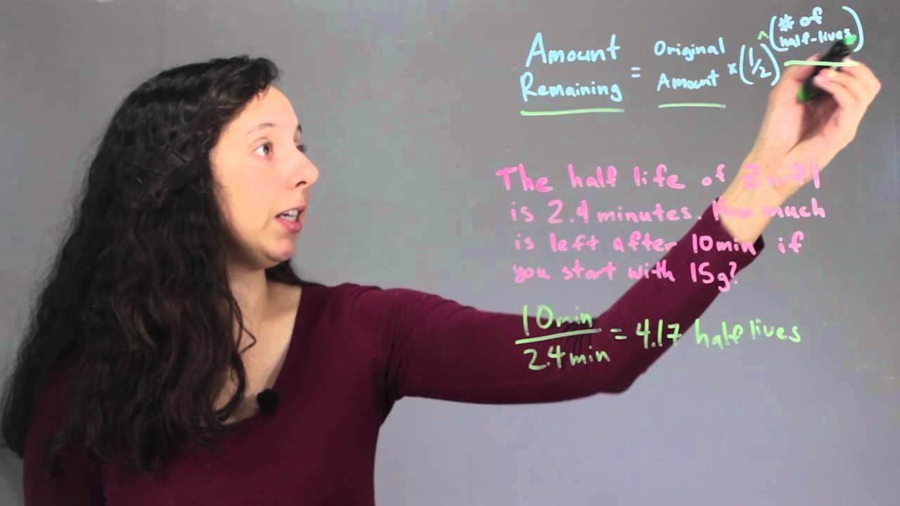 worksheet Half Life Problems Worksheet nuclear chemistry half life problems chem class youtube