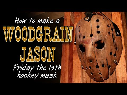 "How to Make a ""Woodgrain"" Jason Mask - Friday The 13th DIY Tutorial"