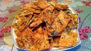 Чипсы из Лаваша / Chips / Очень Простой и Быстрый Рецепт / Закуска