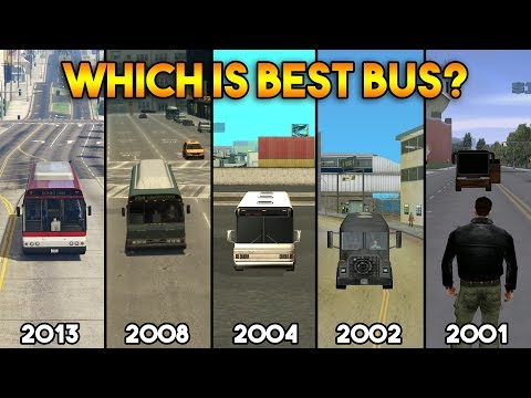 GTA : BUS IN ALL GTA GAMES (WHICH IS BEST?)