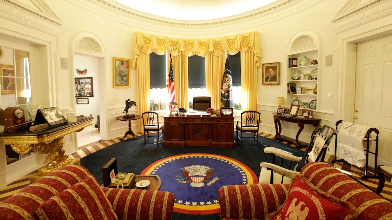 oval office photos. Oval Office In My Home: Ron Wade And His Presidential Memorabilia - YouTube Photos O