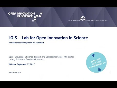 Lab for Open Innovation in Science Webinar (27.09.2017)