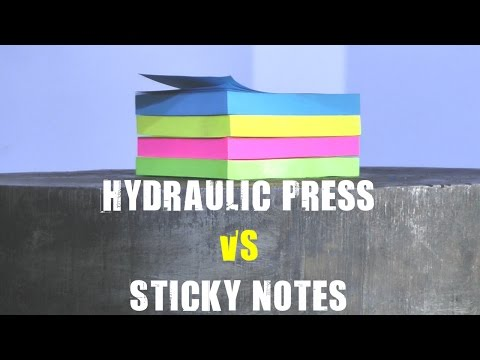 Thumbnail: 500 Ton Hydraulic Press vs Sticky Notes