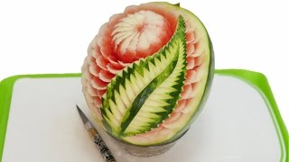 WATERMELON CARVED MODEL 5  By J Pereira Art Carving