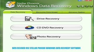 data recover use stellar phoenix windows data recovery software