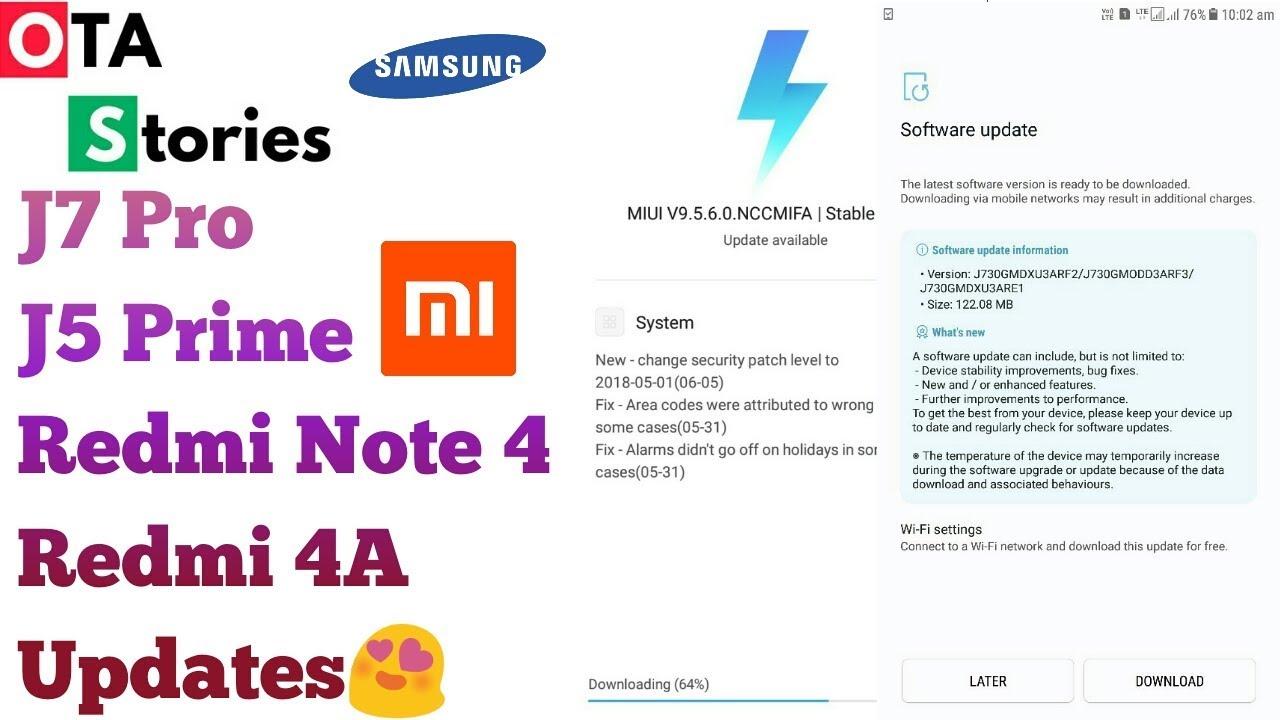 J5 Prime/J7 Pro Update I Redmi Note 4 MIUI 9 5 11 0 I Redmi 4A MIUI 9 5 6 0  I OTA Stories#24