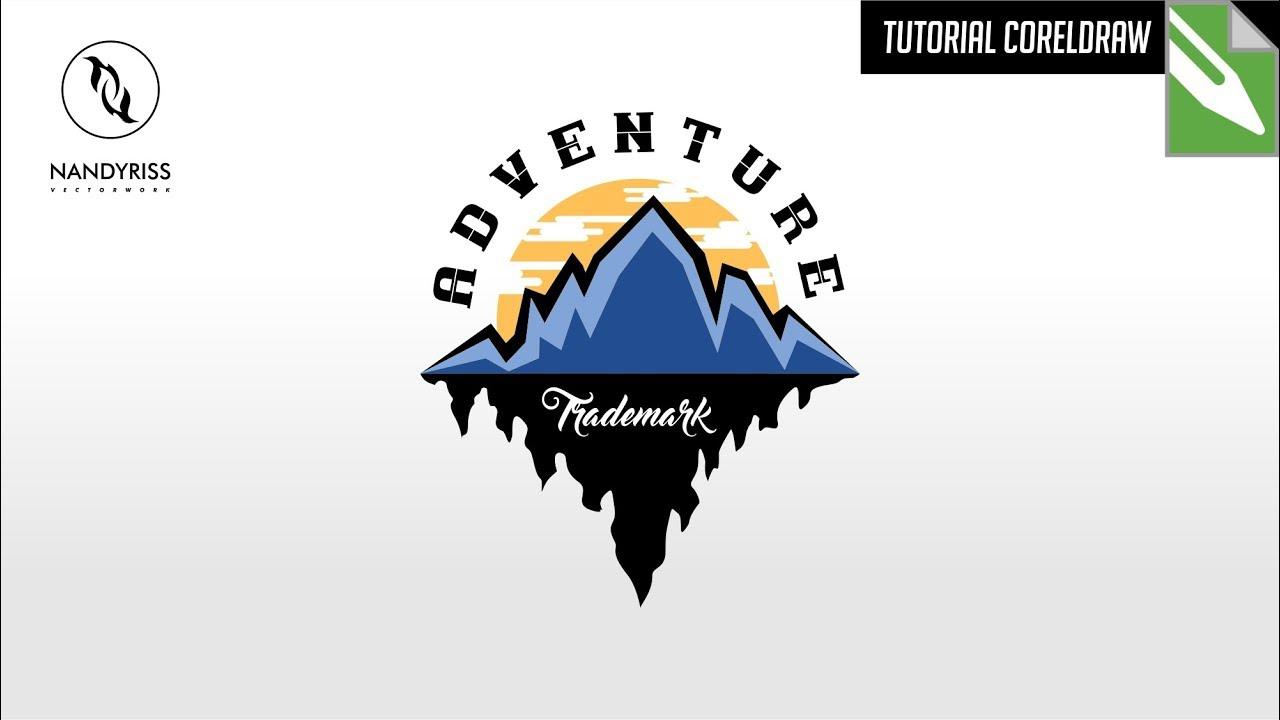 Tutorial Membuat Logo Adventure Coreldraw X7 Youtube