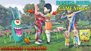 BONEKA SQUID GAME NIKAH DIGANGGU PLANKTON, UPIN IPIN MARAH - GTA 5 BOCIL SULTAN