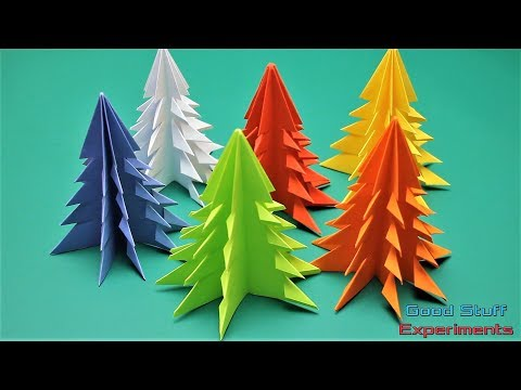 DIY How to Make 3D Paper Christmas Tree