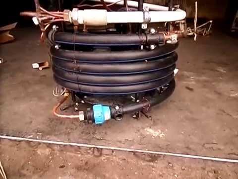 Теплообменник для домашней печки тепловой мощностью 25 кВт - YouTube