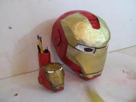Diy Pepakura ( papercraft ) IRON MAN mark 42 helmet time lapse ... | 360x480