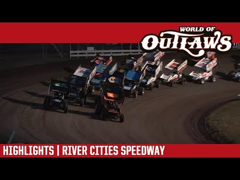 World of Outlaws Craftsman Sprint Cars River Cities Speedway June 15, 2018 | HIGHLIGHTS