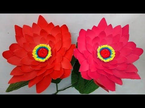 Easy sunflower - How to make beautiful paper sunflowers tutorials