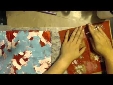 Napkin Inspired Art Journal Page with JournalArtista