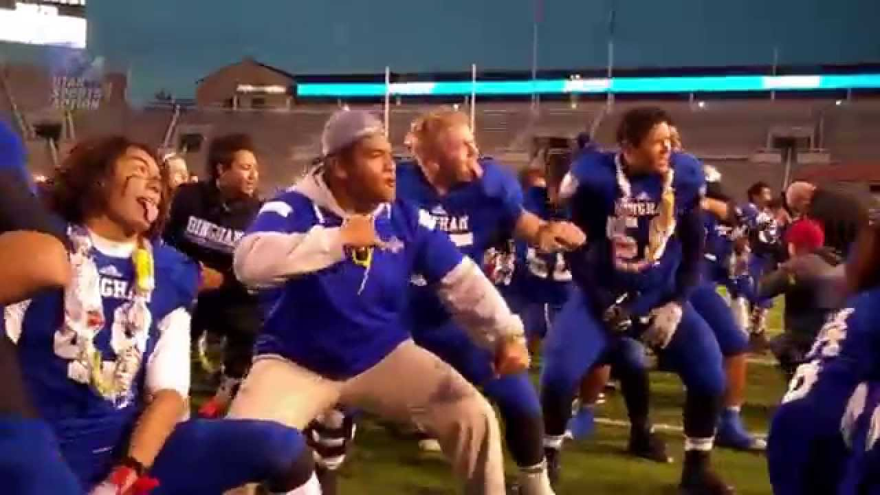 5a High School Football Championship Bingham Miners Haka Youtube