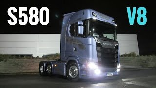 2017 SCANIA S580 V8 Truck - What Do The Drivers Think? - Stavros969 4K