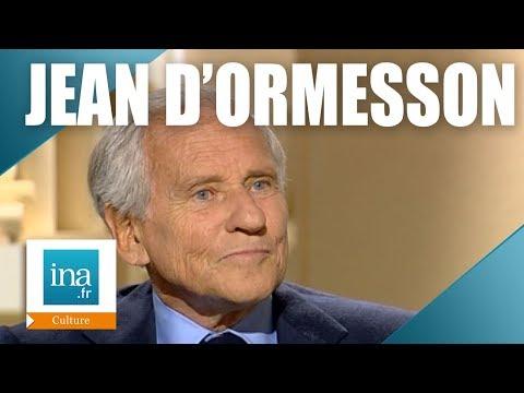Jean d'Ormesson, sa relation avec François Mitterrand   Archive INA