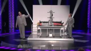 MAGIC - They accidentally CUT HER IN HALF! - Penn and Teller - America's Got Talent