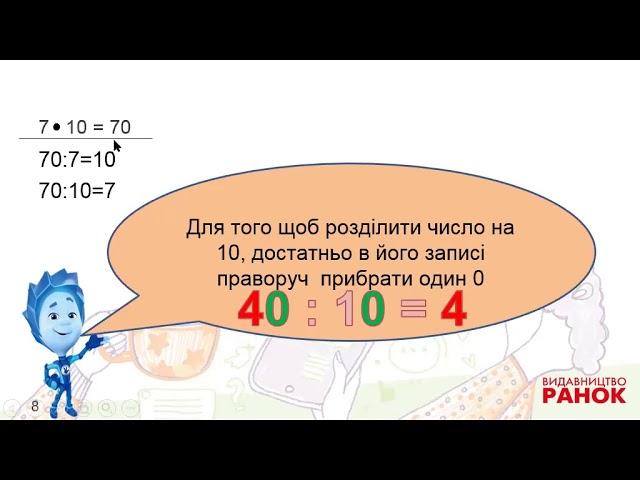 2 клас. Математика. Відкриваємо спосіб множення і ділення на 10