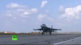 Российская авиация наращивает интенсивность ударов по позициям ИГ в Сирии
