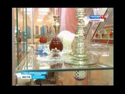 Старинные пасхальные яйца из стекла и хрусталя  на выставке в Гусь-Хрустальном