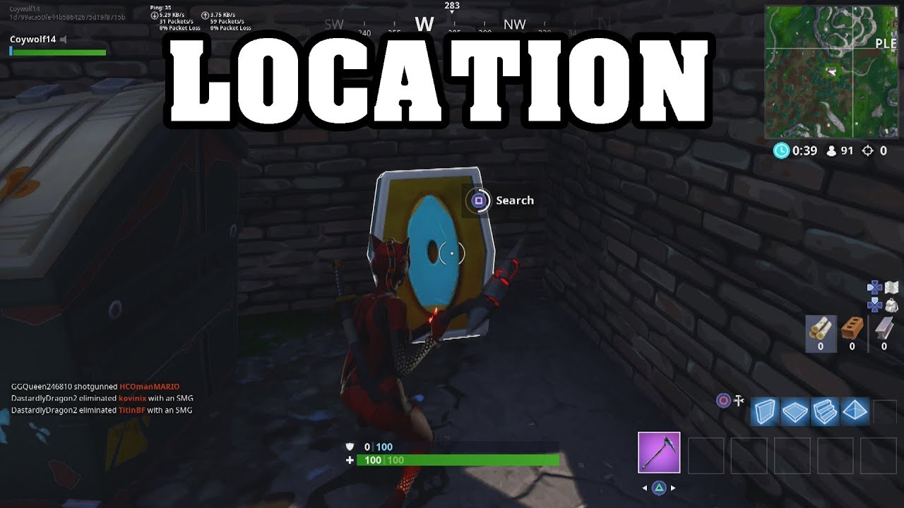 SEARCH THE LETTER O WEST OF PLEASANT PARK(Fortnite Battle