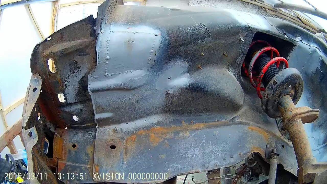 ремонт opel ascona c ч. 5 грунтування латок