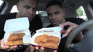 Wendys Chicken Tenders with SAwesome Sauce hodgetwins