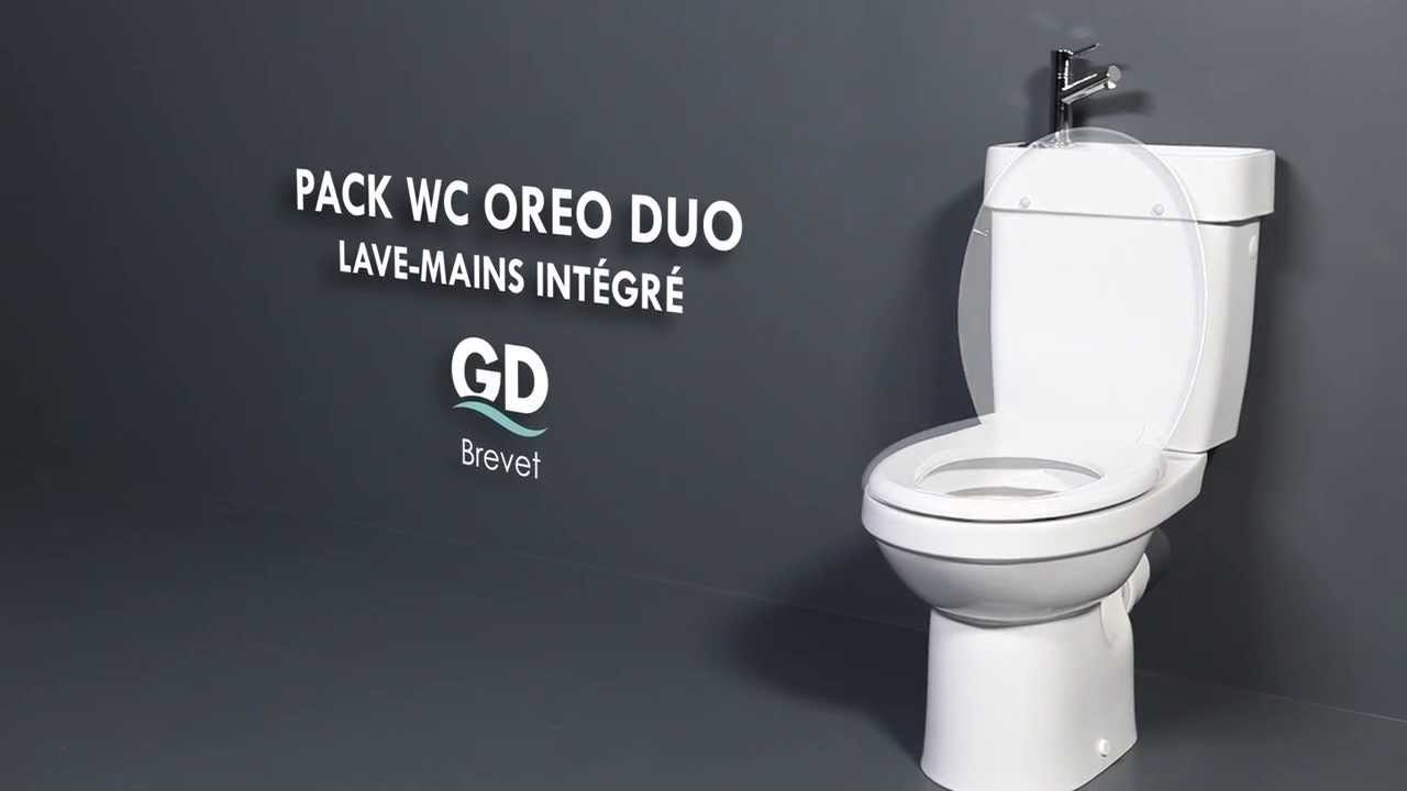 GODART - Pack WC avec lave mains OREO DUO - YouTube