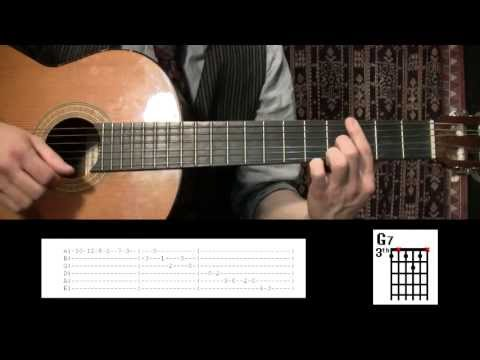 Guitar lesson: Scott Joplin Rag - The entertainer / With tabs