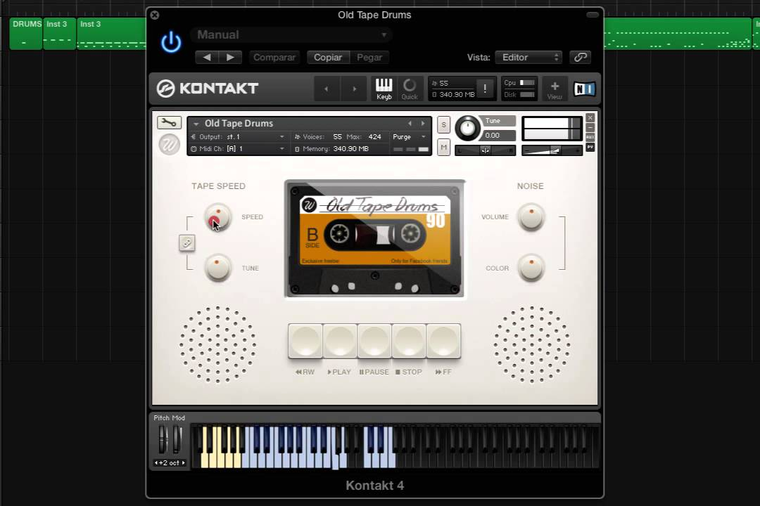 Old Tape Drums - Free Kontakt library
