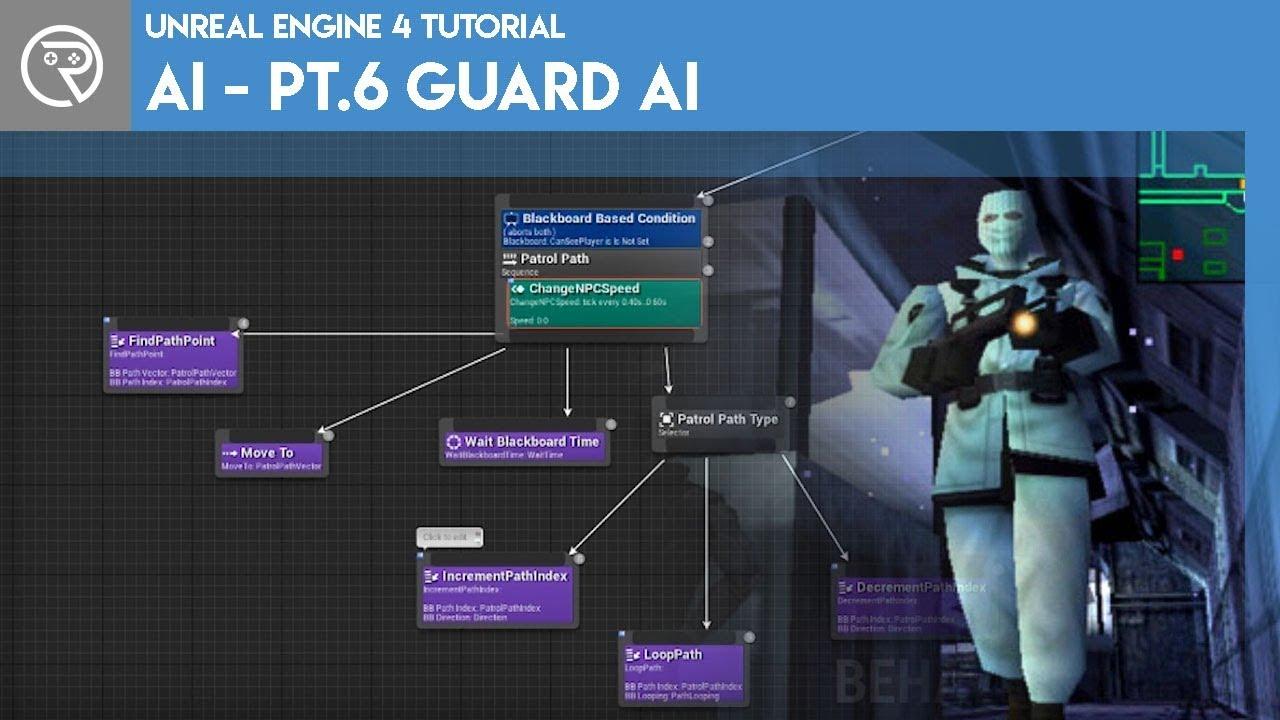 Unreal Engine 4 Tutorial Ai Part 6 Guard Ai
