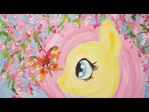 Springtime Fluttershy MLP Speedpaint on Canvas -- My Little Pony Fever Speed Painting