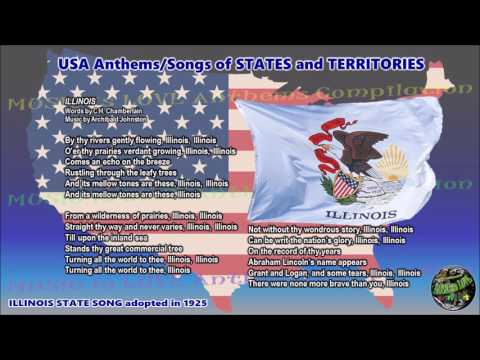 ILLINOIS State Song ILLINOIS with vocal and lyrics