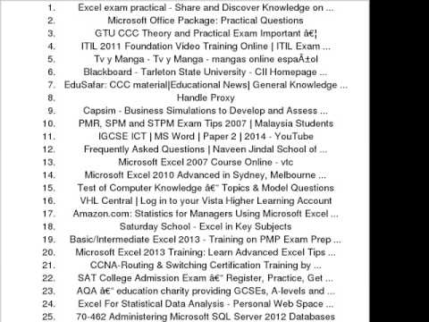 practical exam questions ms excel pdf