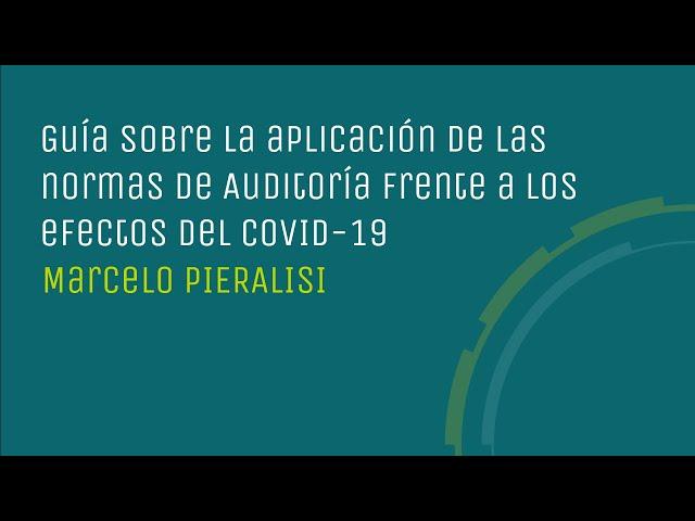 Guía sobre la aplicación de las normas de Auditoría frente a los efectos del COVID-19