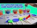 Learn Basic shapes Sorting/Classifying Cups learn colors activities preschoolers kindergarten