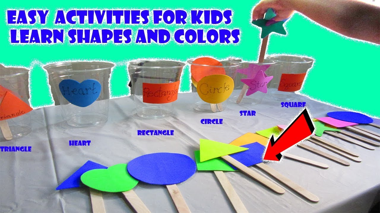 learn basic shapes sorting classifying cups learn colors activities preschoolers kindergarten. Black Bedroom Furniture Sets. Home Design Ideas