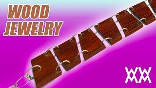 Wood Bracelet And Earrings. Make Your Own Fashion Accessories!