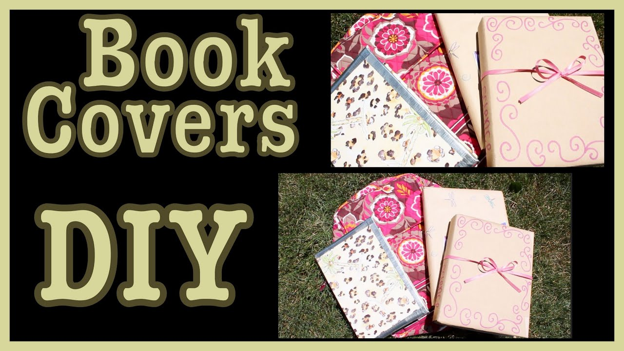 Cool Ideas For A Book Cover : Diy book covers ideas how to decorate them youtube