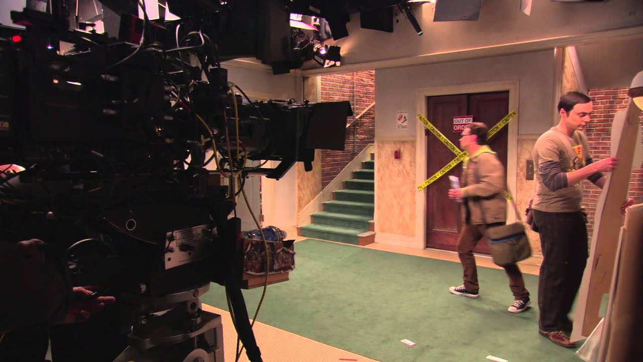 Image result for behind the scenes of the big bang theory