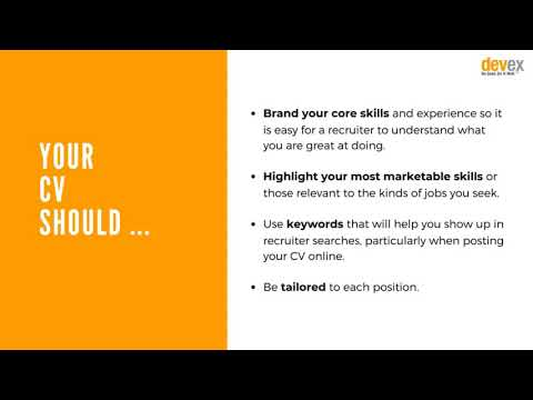 [Excerpt] Advice from a recruitment expert: Writing your CV and cover letter