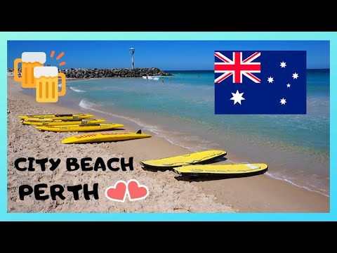 PERTH: City Beach ⛱️🌊,  Most Beautiful Beach In Western Australia
