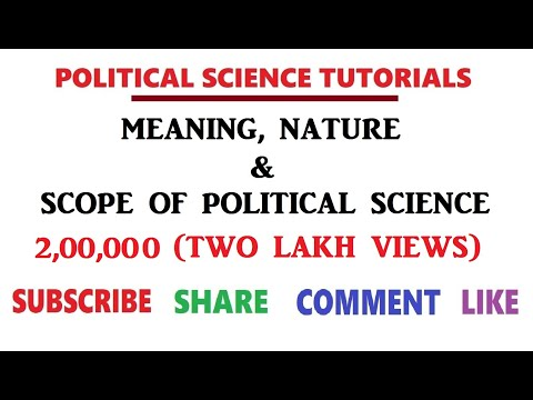Meaning, Nature & Scope of Political Science - EP 1
