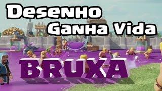 O Desenho Ganha Vida 2: BRUXA no Clash of Clans !