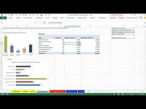 Excel 2013 Statistical Analysis #06: Frequency Distributions & Column Charts, Categorical Variables