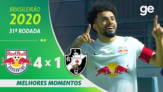 BRAGANTINO 4 X 1 VASCO | MELHORES MOMENTOS | 31ª RODADA BRASILEIRÃO 2020 | ge.globo