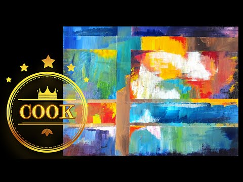 How to Paint a Layered  Abstract   with Ginger Cook