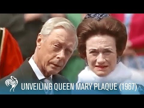 The Royal Family at the Queen Mary Plaque Unveiling in London (1967) | British Pathé